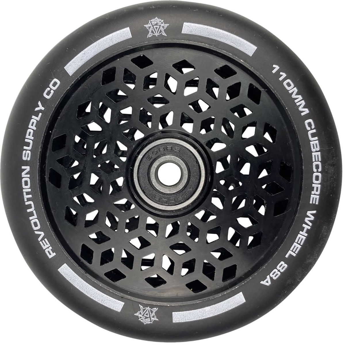 An image of Revolution Supply Cubed Core Ultralite 110mm Scooter Wheel - Black / Black
