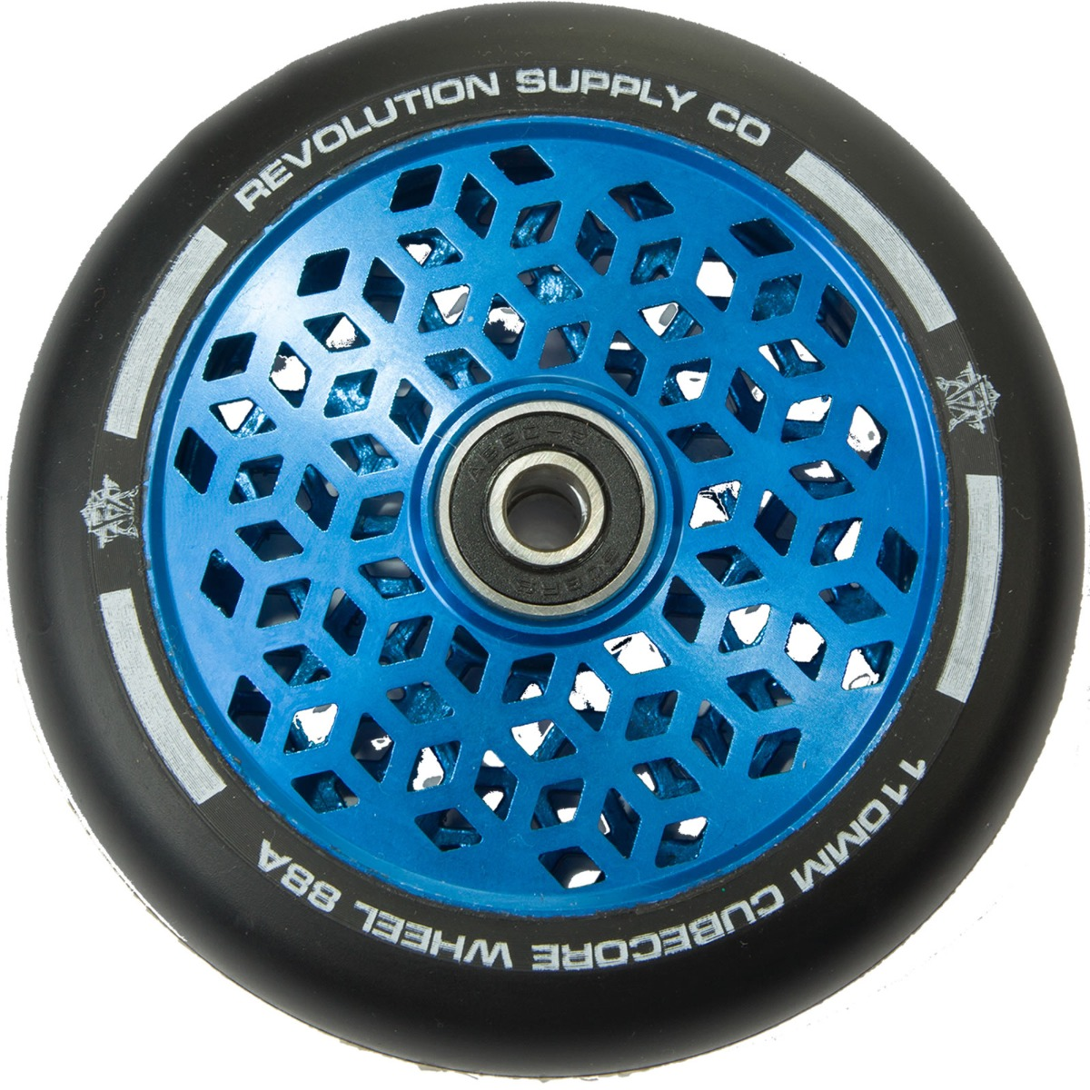An image of Revolution Supply Cubed Core Ultralite 110mm Scooter Wheel - Blue