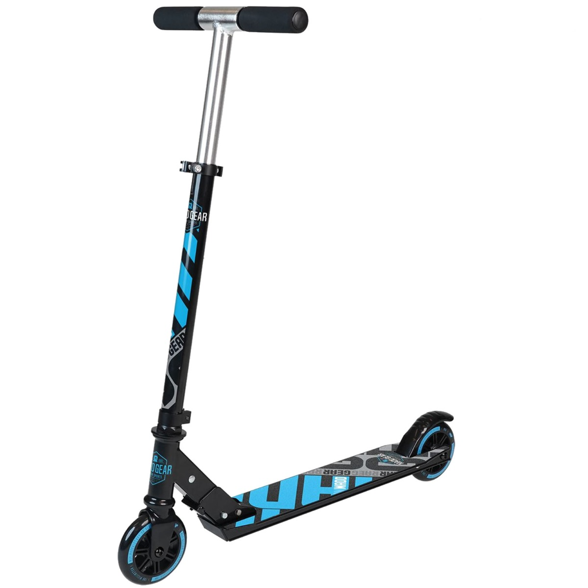 An image of Madd Gear Carve 100 Foldable Scooter - Black / Blue