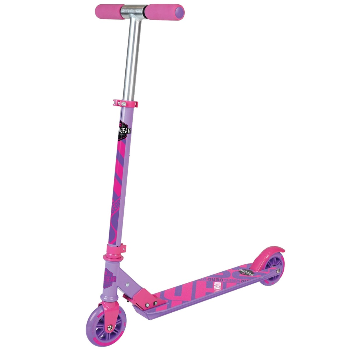An image of Madd Gear Carve 100 Foldable Scooter - Purple / Pink