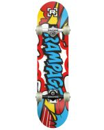 "Rampage Comic Blue Complete Skateboard - 31"" x 8"""