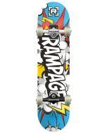 "Rampage Comic White Complete Skateboard - 31"" x 8"""