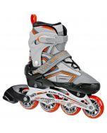 RD Stingray R7 Adjustable Inline Skates - Grey / Orange
