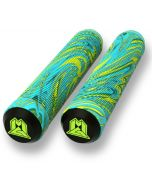 Madd MGP 180mm Swirl Grind Scooter Grips - Lime / Teal