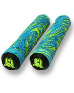 Madd MGP 180mm Swirl Grind Scooter Grips - Lime / Blue