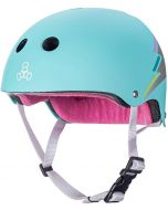 Triple 8 Sweatsaver Certified Skate Helmet - Teal Hologram