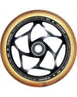 Blunt Envy Tri-Bearing 120mm X 30mm Scooter Wheel - Black / Gold