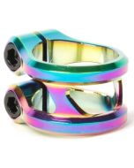 Ethic DTC Sylphe Rainbow Neochrome Double Scooter Clamp Standard Size – 31.8mm