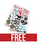 Scooter Skates Sticker Pack