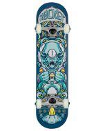 """Rocket Alien Pile-up Complete Skateboard - Blue 7.375"""""""