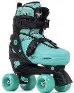 SFR Nebula Adjustable Quad Roller Skates - Green