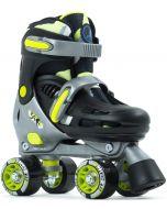 SFR Hurricane III Adjustable Quad Roller Skates - Black / Yellow