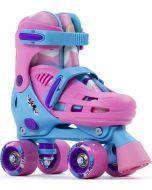 SFR Hurricane III Adjustable Quad Roller Skates - Pink / Blue