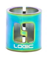 Logic HIC Double Scooter Clamp – Neochrome Rainbow Oil Slick