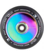 Root Industries AIR Hollowcore 110mm Scooter Wheel - Black / Rocket Fuel Neochrome Rainbow