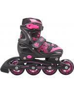 Roces Jokey 3.0 Adjustable Inline Skates - Black / Pink