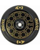 District Zodiac Black Gold Stunt Scooter Wheels - 110mm
