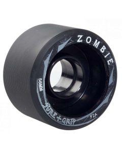 Sure grip Zombie Low Quad Derby Wheels 58mm 92A x4 - Black