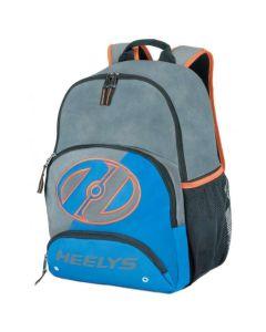 Heelys Rebel Backpack Bag - Grey / Royal Blue / Orange