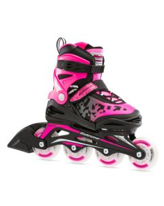 Bladerunner Phoenix Flash Adjustable Inline Skates - Black / Pink