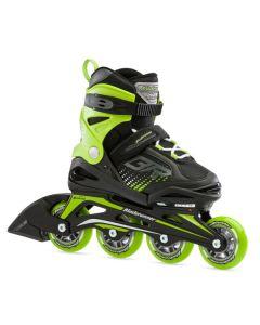 Bladerunner Phoenix Adjustable Inline Skates - Black / Green