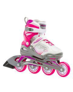 Bladerunner Phoenix Adjustable Inline Skates - White / Fuchsia