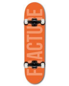 "Fracture Fade Orange Complete Skateboard 8"" x 31"""