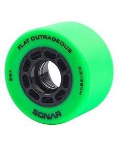 Radar Sonar Flat Outrageous 62mm Derby Wheels - Green