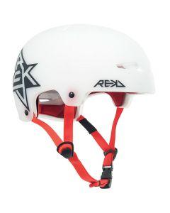 REKD Elite Icon Semi-Transparent Skate Helmet - White