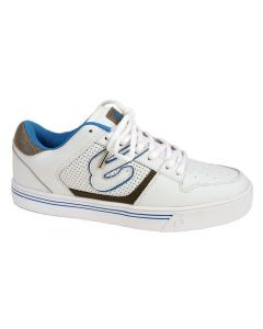Elyts DB1 Low Top Skate Shoes - White / Blue