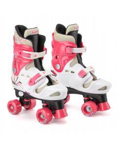 Osprey Kids Adjustable Quad Skates White / Pink