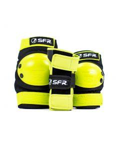 SFR Youth Ramp Triple Pad Set - Black / Lime