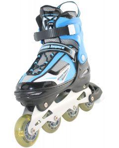 African Leopard Adjustable Inline Skates - Blue
