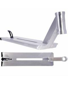 """Urbanartt Butter Scooter Deck - Raw Stone Chrome Silver - 23"""" x 5.5"""""""