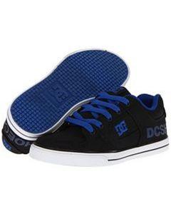 DC Pure TX Skate Shoes - Black / Blue Jewel UK6