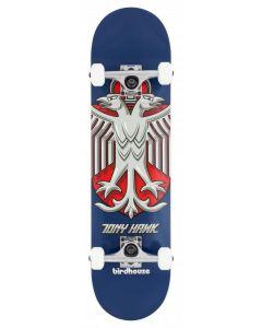 """Birdhouse Hawk Shield Blue Stage 1 Complete Skateboard - 8"""" x 31.5"""""""