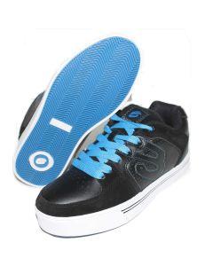 Elyts Tantrum Mid Top Skate Shoes - Black / Blue UK2