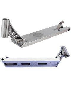 """Infinity Boxed Polished Silver Chrome Street Scooter Deck – 21"""" x 6"""""""