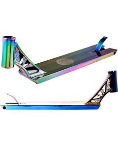 """Infinity Boxed Neochrome Oil Slick Street Scooter Deck – 21"""" x 5"""""""