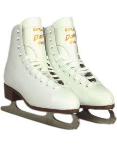 Graf Davos Gold White Figure Ice Skates