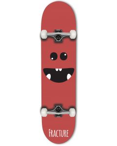 """Fracture Lil Monsters Series Complete Skateboard - Red 8"""""""
