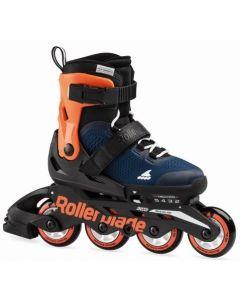 Rollerblade 2020 Microblade Adjustable Inline Skates - Blue / Orange