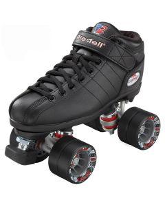 Riedell R3 Black Derby Roller Quad Skates