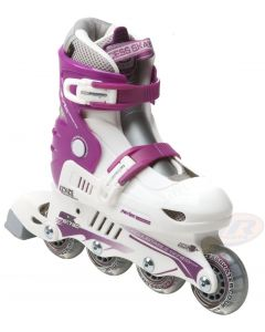 Xcess Skates MX S780 Adjustable White Lilac Inline Skates / Rollerblades
