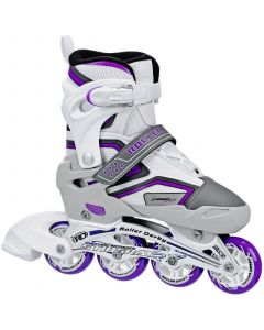RD Stingray R7 Adjustable Inline Skates - White / Lilac