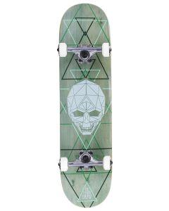 "Enuff Geo Skull 8"" Complete Skateboard - Green"