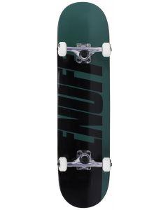 Enuff Half Stain Complete Skateboard - Green