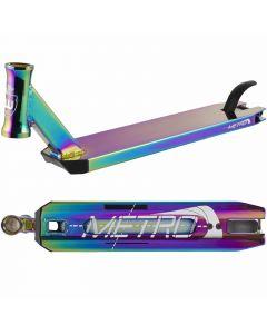 "Longway Metro Scooter Deck - Neochrome Oil Slick - 19.7"" x 4.3"""