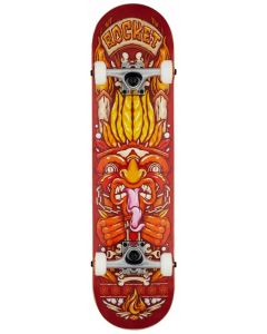 """Rocket Chief Pile-up Complete Skateboard - Red 7.75"""""""