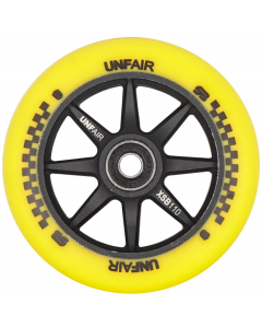 Unfair Compass Scooter Brad 110mm Signature Wheel - Yellow / Black